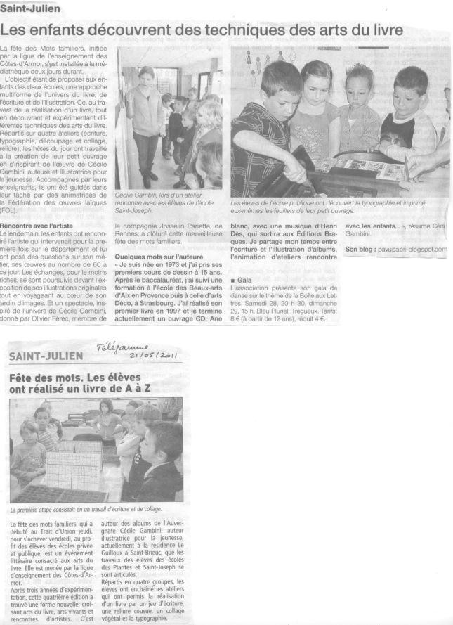 Saint-Julien Télégramme 21mai 2011