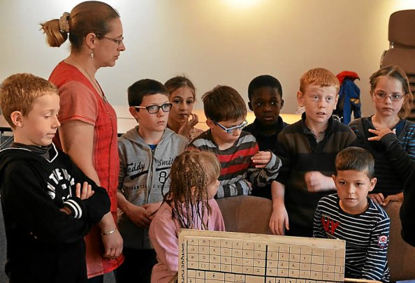 Les enfants de l'école du Centre lors de la dernière rencontre de cette édition.